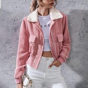 🌈🌼HP🌈🌼Dusty Pink Faux Corduroy Jacket
